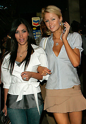 August 27, 2006 - West Hollywood, California, U.S. - 26 August 2006 - West Hollywood, California - Paris Hilton and Kim Kardashian. Hyde Lounge located on Sunset Boulevard (formerly north) is probably no larger than Paris Hilton's closet, but the intimate setting is the big draw. The single room, bathed in gold lighting, is lined with Industry insiders atop banquettes and faux-croc ottomans. Photo Credit: Jackson Lee/AdMedia (Credit Image: © Jackson Lee/AdMedia via ZUMA Wire)