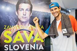 Blaz Rola of Slovenia celebrates after winning Singles in Quarter - Final of ATP Challenger Zavarovalnica Sava Slovenia Open 2019, day 8, on August 16, 2019 in Sports centre, Portoroz/Portorose, Slovenia. Photo by Vid Ponikvar / Sportida