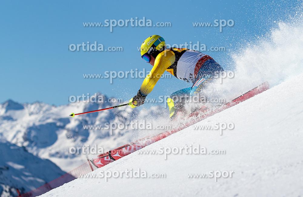 19.02.2017, St. Moritz, SUI, FIS Weltmeisterschaften Ski Alpin, St. Moritz 2017, Slalom, Herren, 1. Lauf, im Bild Mattias Hargin (SWE) // Mattias Hargin of Sweden in action during his 1st run of men's Slalom of the FIS Ski World Championships 2017. St. Moritz, Switzerland on 2017/02/19. EXPA Pictures © 2017, PhotoCredit: EXPA/ Johann Groder