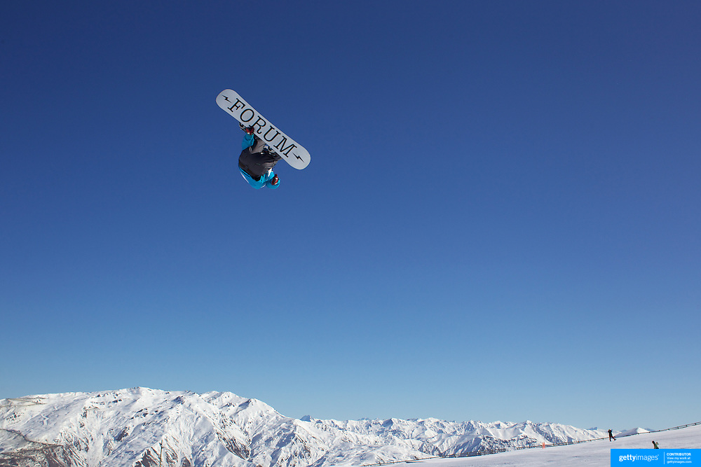 Liam Ryan, New Zealand, in action during the Snowboard Slopestyle Men's  ompetition at Snow Park, New Zealand during the Winter Games. Wanaka, New Zealand, 21st August 2011. Photo Tim Clayton