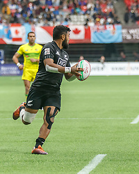 March 9, 2019 - Vancouver, BC, U.S. - VANCOUVER, BC - MARCH 09: Vilimoni Koroi #6 of New Zealand scores during Game #20- New Zealand 7s vs Australia 7s in Pool C match-up at the Canada Sevens held March 9-10, 2019 at BC Place Stadium in Vancouver, BC, Canada. (Photo by Allan Hamilton/Icon Sportswire) (Credit Image: © Allan Hamilton/Icon SMI via ZUMA Press)