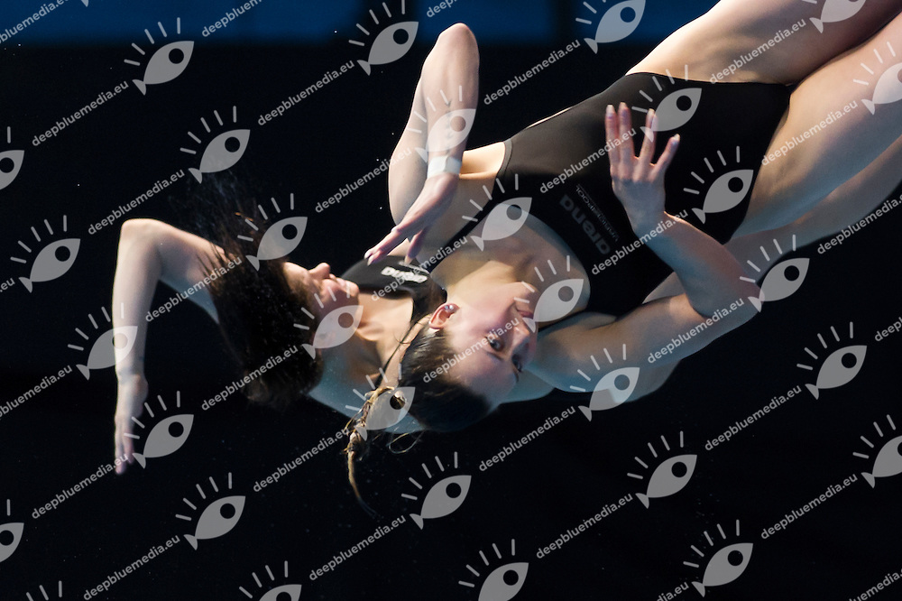 JANSEN Inge FREITAG Uschi NED<br /> London, Queen Elizabeth II Olympic Park Pool <br /> LEN 2016 European Aquatics Elite Championships <br /> Diving<br /> Women's 3m synchronised springboard final <br /> Day 07 15-05-2016<br /> Photo Giorgio Perottino/Deepbluemedia/Insidefoto