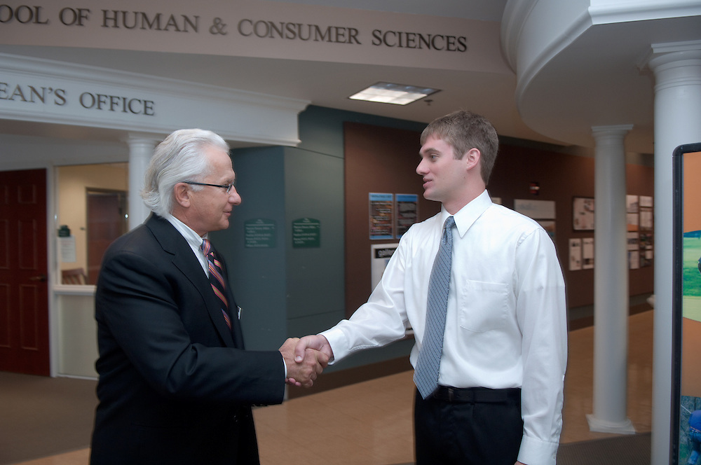 Board of trustees visiting The College of Health & Human Services...Frank P. Krasovec and Jeremy Hammond