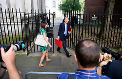 © Licensed to London News Pictures. 13/09/2016. London, UK.  Chancellor PHILIP HAMMOND arrives at 10 Downing Street in London for cabinet meeting on September 13, 2016. Photo credit: Ben Cawthra/LNP