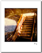 Ship's Stairway 1985 11x14 signed archival pigment print free shipping USA.
