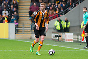 Hull City Midfielder Sam Clucas (11) in action during the Premier League match between Hull City and Watford at the KCOM Stadium, Kingston upon Hull, England on 22 April 2017. Photo by Craig Zadoroznyj.
