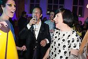 VALERIA NAPOLEONE; DETMAR BLOW; ALICE RAWTHORN  Pop party. the birthday celebration of twin sisters Valeria Napoleone and Stefania Pramma. Studio Voltaire, London SW4. 17 May 2013.