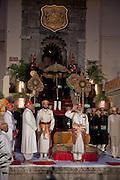 The Ashwa Poojan (horse worship ceremony) at the City Palace, Udaipur, Rajasthan, India.