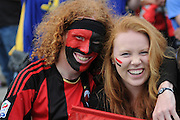 Crusaders fans during the Investec Super Rugby - Highlanders v Crusaders, 19 March 2011, Carisbrook Stadium, Dunedin, New Zealand.Photo: New Zealand. Photo: Richard Hood/www.photosport.co.nz
