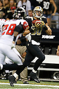 NEW ORLEANS, LA - NOVEMBER 11:  Jimmy Graham #80 of the New Orleans Saints catches a pass against the Atlanta Falcons at Mercedes-Benz Superdome on November 11, 2012 in New Orleans, Louisiana.  The Saints defeated the Falcons 31-27.  (Photo by Wesley Hitt/Getty Images) *** Local Caption *** Jimmy Graham