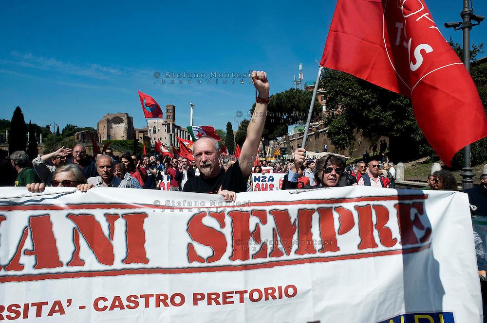 Roma 25 Aprile 2014<br /> Manifestazione per il 69° anniversario della liberazione dal Nazifascismo<br /> Roma 25 April 2014. <br /> Demonstration for the 69th anniversary of liberation from Nazi-fascism