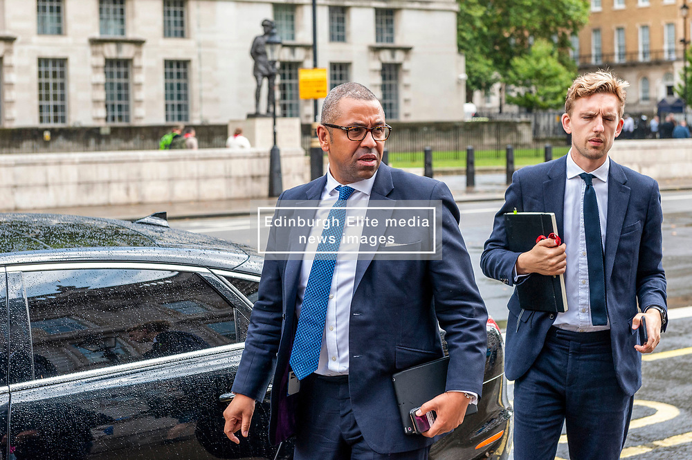 James Cleverly, Tory party chairman arriving at the Cabinet Office.<br /> <br /> Richard Hancox   EEm 30072019
