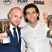 Winner: A Way Out by Oskar Wolotis and Josef Fares at the British Academy (BAFTA) Games Awards at Queen Elizabeth Hall, Southbank Centre  on 4 March 2019, London, UK.