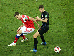 July 7, 2018 - Sochi, Russia - July 07, 2018, Sochi, FIFA World Cup 2018, the playoff round. 1/4 finals of the World Cup. Football match Russia - Croatia at the stadium Fisht. Player of the national team Daler Kuzyaev  (Credit Image: © Russian Look via ZUMA Wire)