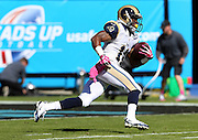 St. Louis Rams wide receiver Tavon Austin (11) returns the opening kickoff during the NFL week 7 football game against the Carolina Panthers on Sunday, Oct. 20, 2013 in Charlotte, N.C.. The Panthers won the game 30-15. ©Paul Anthony Spinelli