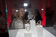 CHARLOTTE DELLAL, Cartier Tank Anglaise launch. Kensington Palace Orangery, London.  19 April 2012.