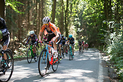 Roxanne Knetemann (NED) of Team Netherlands rides mid-pack on the climb leading to Moschlitz on Stage 1 of the Lotto Thuringen Ladies Tour - a 124.8 km road race, starting and finishing in Schleiz on July 13, 2017, in Thuringen, Germany. (Photo by Balint Hamvas/Velofocus.com)