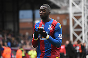 A disheartened Yannick Bolasie leaves the field after the Barclays Premier League match between Crystal Palace and Liverpool at Selhurst Park, London, England on 6 March 2016. Photo by Michael Hulf.