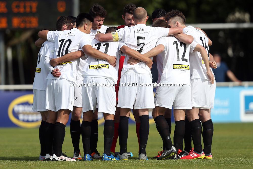 Wellington. Stirling Sports Premiership, Round 1, Auckland City FC v Team Wellington, Kiwitea Street Auckland, Sunday 23rd October 2016. Copyright Photo: Shane Wenzlick