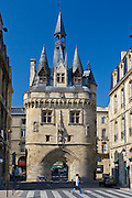 Porte Cailhau 15th century entrance to city of Bordeaux marks victory of Charles VIII at Fornoue