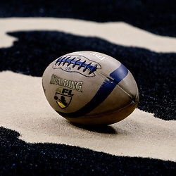 March 9, 2007; New Orleans, LA, USA; A AFL league football is seen on the field during a New Orleans VooDoo game at the New Orleans Arena. The New Orleans VooDoo franchise which ceased operations in 2008 has been relaunched as an expansion team in the Arena Football League that will begin play in the 2011 season.  Mandatory Credit: Derick E. Hingle