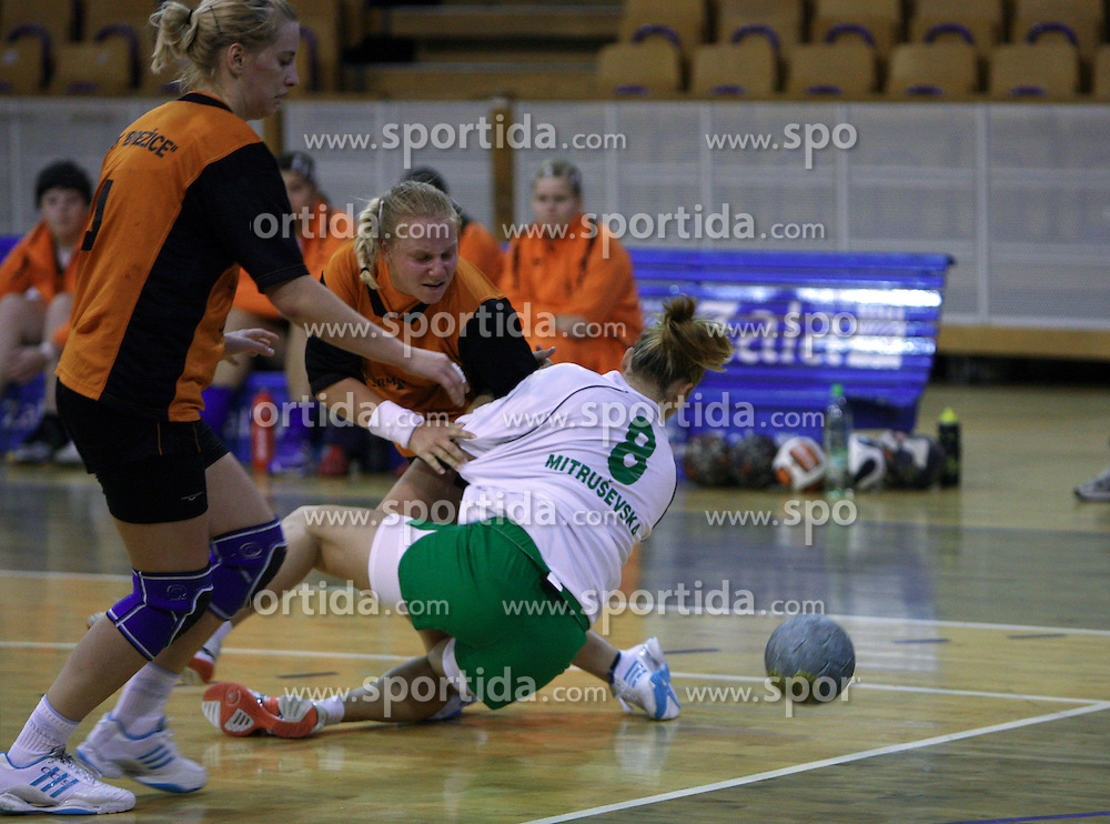 Neza Mitrusevska of Olimpija at  handball game between women team RK Olimpija vs ZRK Brezice at 1st round of National Championship, on September 13, 2008, in Arena Tivoli, Ljubljana, Slovenija. Olimpija won 41:17. (Photo by Vid Ponikvar / Sportal Images)