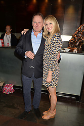ROBERT GLENISTER and LUCY PUNCH at the West End opening night of 'Great Britain' a  play by Richard Bean held at The Theatre Royal, Haymarket, London followed by a post show party at Mint Leaf, Suffolk Place, London on 26th September 2014.