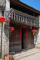 Ancient buildings line the alleys of historic Xingping.