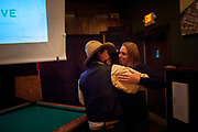 Sydney Paine, Andy Breland's daughter, dancing with Bud Petryszak at the premier party of Dead End Express.