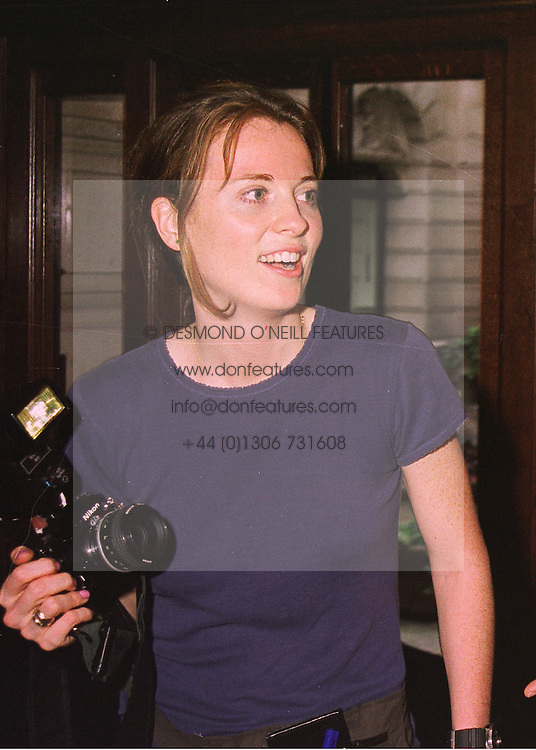 Photographer MISS DAISY DONOVAN, daughter of the late Terence Donovan, at a reception in London on 14th May 1998.MHM 48 WO