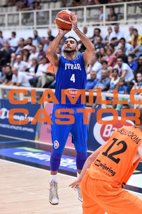 DESCRIZIONE : Trento Nazionale Italia Maschile Trentino Basket Cup Italia Paesi Bassi Italy Netherlands <br /> GIOCATORE : Pietro Aradori<br /> CATEGORIA : Tiro Tre Punti Three Point<br /> SQUADRA : Italia Italy<br /> EVENTO : Trentino Basket Cup<br /> GARA : Italia Paesi Bassi Italy Netherlands<br /> DATA : 30/07/2015<br /> SPORT : Pallacanestro<br /> AUTORE : Agenzia Ciamillo-Castoria/GiulioCiamillo<br /> Galleria : FIP Nazionali 2015<br /> Fotonotizia : Trento Nazionale Italia Uomini Trentino Basket Cup Italia Paesi Bassi Italy Netherlands
