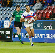 Mason Caton Brown on his way to scoring the 1st try of the game against Huddersfield Giants during the Ladbrokes Challenge Cup match at the John Smiths Stadium, Huddersfield<br /> Picture by Stephen Gaunt/Focus Images Ltd +447904 833202<br /> 11/05/2018