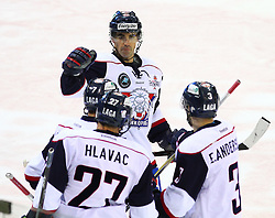 18.12.2011, Albert Schultz Halle, Wien, AUT, European Trophy, Spiel um Platz 3, Lulea Hockey vs Linkoepings HC, im Bild Torjubel von Mark Hartigan, (Linkoepings HC, #13), Magnus Johansson, (Linkoepings HC, #7), Jan Hlavac, (Linkoepings HC, #27) und Erik Andersson, (Linkoepings HC, #3) , EXPA Pictures © 2011, PhotoCredit: EXPA/ T. Haumer