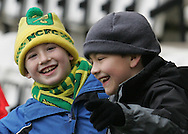 Preston - Saturday February 14th, 2009: Norwich City fans prior to the game against Preston North End during the Coca Cola Championship match at Deepdale, Preston. (Pic by Michael Sedgwick/Focus Images)