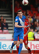 Leyton Orient striker John Marquis, on loan from Millwall, wins a header during the Sky Bet League 2 match between Crawley Town and Leyton Orient at the Checkatrade.com Stadium, Crawley, England on 10 October 2015. Photo by Bennett Dean.