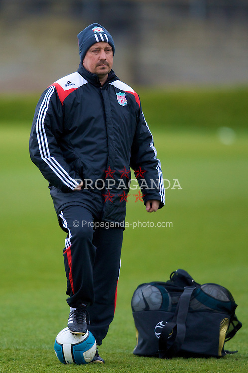 LIVERPOOL, ENGLAND - Friday, April 11,2008: Liverpool's manager Rafael Benitez during training at Melwood. (Pic by David Rawcliffe/Propaganda)