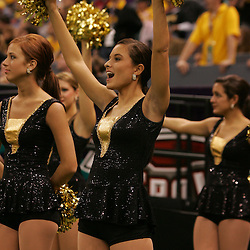 21 December 2008:  Southern Miss cheerleaders performs during a 30-27 overtime victory by the Southern Mississippi Golden Eagles over the Troy Trojans in the  R+L Carriers New Orleans Bowl at the New Orleans Superdome in New Orleans, LA.