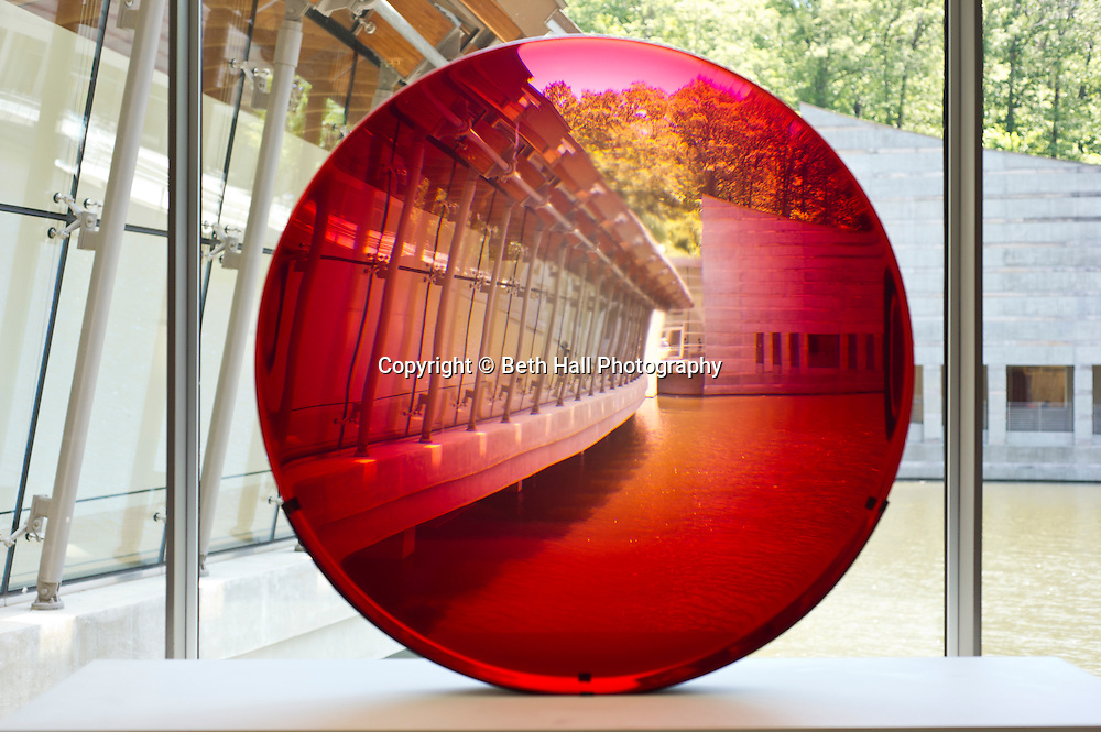 Frederick Eversley, Big Red Lens, at Crystal Bridges Museum of American Art on Monday, June 10, 2013, in Bentonville, Ark.
