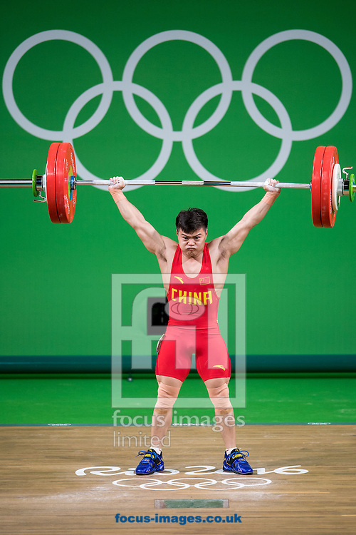 Qingquan Long of China winning the Gold medal in the Men's 56 Kg Weightlifting during XXXI 2016 Olympic Summer Games at Rio de Janeiro, Brazil.<br /> Picture by EXPA Pictures/Focus Images Ltd 07814482222<br /> 08/08/2016<br /> *** UK &amp; IRELAND ONLY ***<br /> <br /> EXPA-Eibner-Pressefoto-160808-5053.jpg