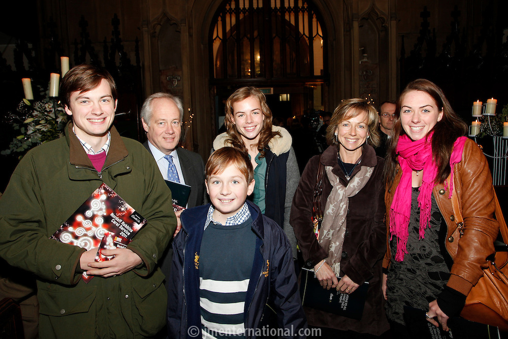 Rory Tapner and family, Nordoff Robbins Carol Service  2011 sponsored by Coutts. London..Wednesday, 14. Dec 2011