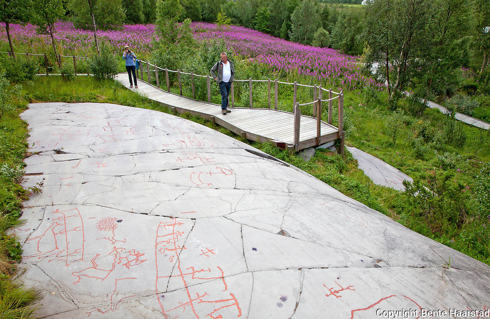 The Rock Art Museum, in Alta, Finnmark. World Heritage Site, Unesco.