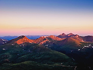 A picture of Grays and Torreys Peak in the Morning.<br />