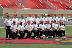 01 August 2017:   Redbird Football Coaches during 2017 Illinois State Redbirds Football Media Day at Hancock Stadium in Normal IL (Photo by Alan Look)