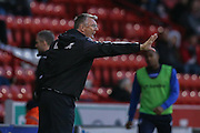 Sheffield United  Manager Nigel Adkins  during the The FA Cup match between Sheffield Utd and Oldham Athletic at Bramall Lane, Sheffield, England on 5 December 2015. Photo by Simon Davies.