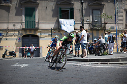 Kirsten Wild (NED) of Cylance Pro Cycling leads the race in the second lap of Stage 10 of the Giro Rosa - a 124 km road race, starting and finishing in Torre Del Greco on July 9, 2017, in Naples, Italy. (Photo by Balint Hamvas/Velofocus.com)