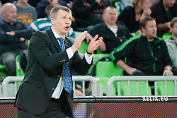 Tomas Pacesas, head coach of Asseco Prokom Gdynia, during basketball match between KK Union Olimpija and Asseco Prokom Gdynia (POL) of 3rd Round in Group D of Regular season of Euroleague 2011/2012 on November 2, 2011, in Arena Stozice, Ljubljana, Slovenia. (Photo by Matic Klansek Velej / Sportida)
