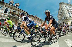 Nicole Hanselmann (SUI) of Bigla team and Silvia Valsecchi (ITA) of Bepink Laclassica during the Stage 1 (102,5 km) from Kamnik to Ljubljana at 26th Giro Rosa 2015 Women cycling race, on July 4, 2015 in Kamnik,  Slovenia. Photo by Vid Ponikvar / Sportida