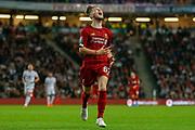 Liverpool midfielder Harvey Elliott (67) shouts in frustration during the EFL Cup match between Milton Keynes Dons and Liverpool at stadium:mk, Milton Keynes, England on 25 September 2019.