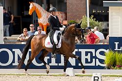 Christensen Jan Moller, DEN, Hesselhoej Donkey Boy<br /> World Championship Young Dressage Horses - Ermelo 2019<br /> © Hippo Foto - Dirk Caremans<br /> Christensen Jan Moller, DEN, Hesselhoej Donkey Boy