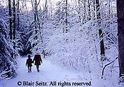 PA landscapes, Children Walk in Winter Wonderland, Dauphin Co., PA